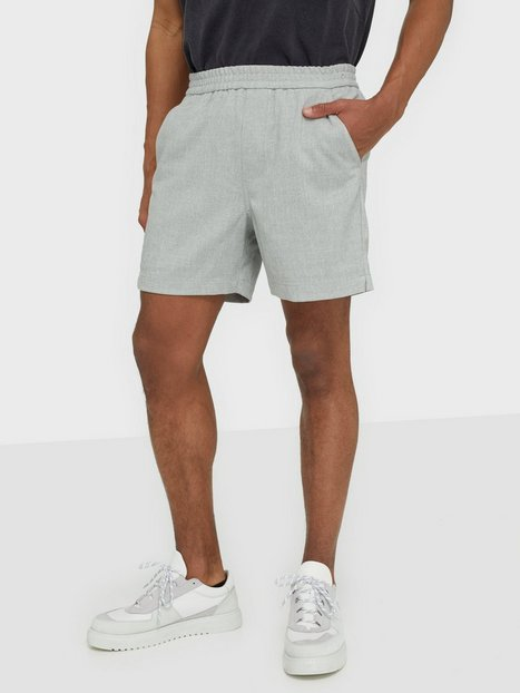 PLAÎN Turi 926 Shorts Light Grey Melange - herre