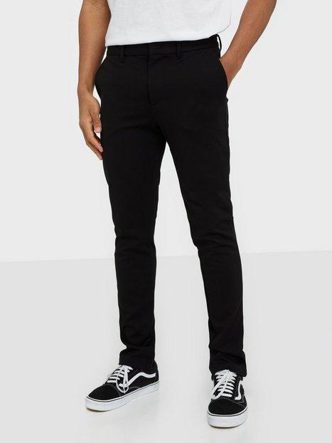 Selected Homme Slhslim Jersey Flex Pants B Noos Bukser Sort - herre