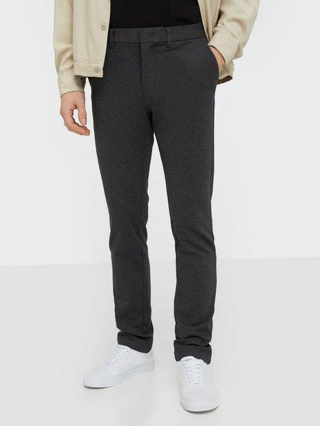 Selected Homme Slhslim Jersey Flex Pants B Noos Bukser Mørkegrå - herre