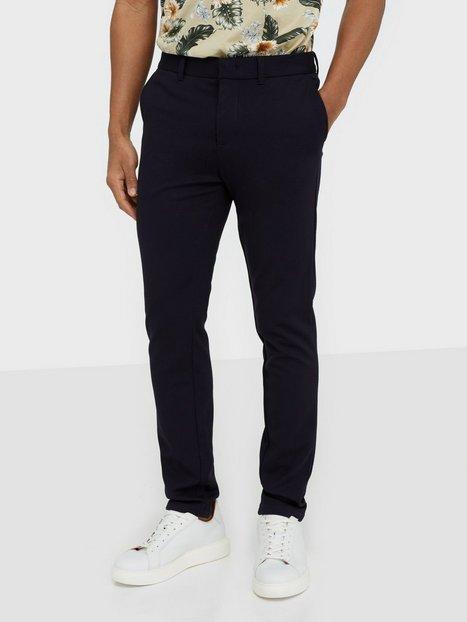 Selected Homme Slhslim Jersey Flex Pants B Noos Bukser Mørkeblå - herre