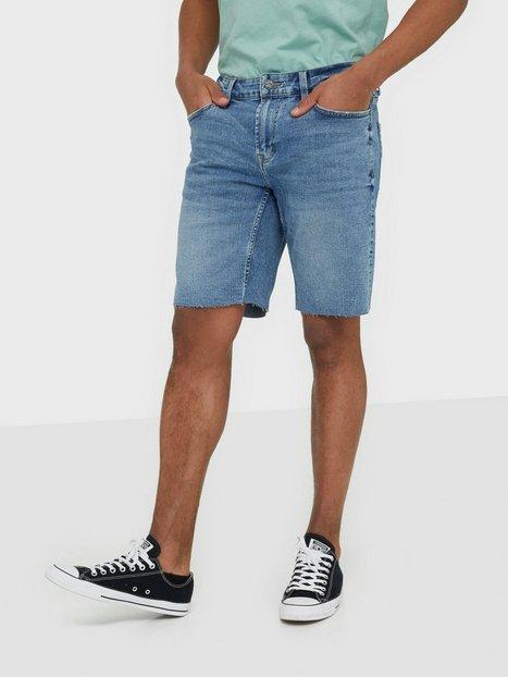 Only & Sons Onsply Reg Raw Hem Zip L Blue Pk 52 Shorts Blå