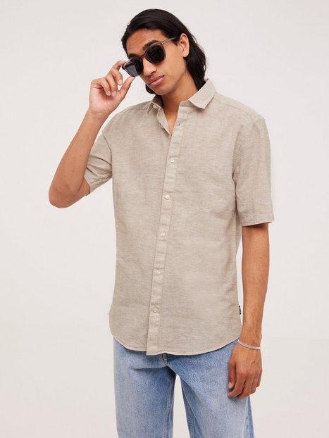 Only & Sons Onscaiden Ss Linen Shirt Skjorter Grå