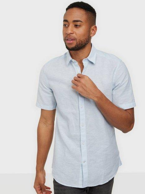 Only & Sons Onscaiden Ss Linen Shirt Skjorter Cashmere Blue