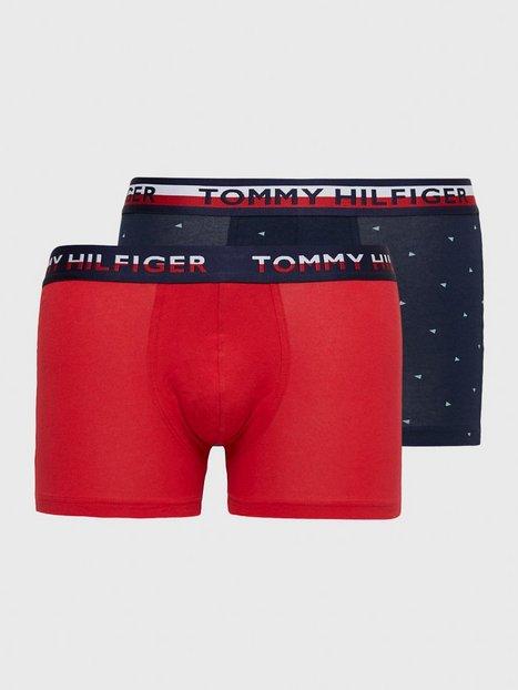 Tommy Hilfiger 2P Trunk Print Boxershorts Rød - herre