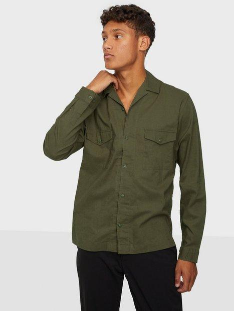 Jack & Jones Jprblabrentford Overshirt L/S Skjorter Mørkegrøn