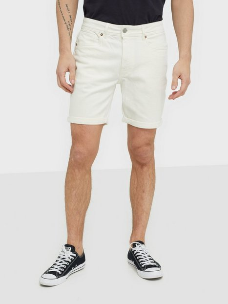 Selected Homme Slhalex 418 White Denim St Shorts W Shorts Hvid - herre