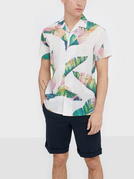 Selected Homme Slhregavalon Shirt Ss Aop B Skjorter Hvid