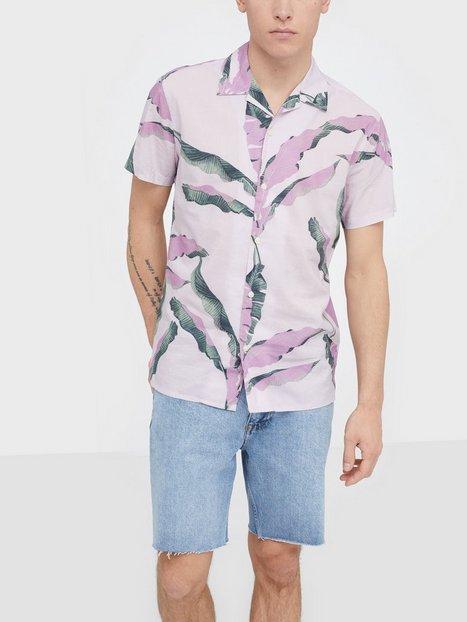 Selected Homme Slhregavalon Shirt Ss Aop B Skjorter Lyselilla