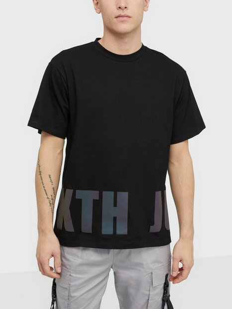 Sixth June T-shirt with iridescent print T-shirts & undertrøjer Black