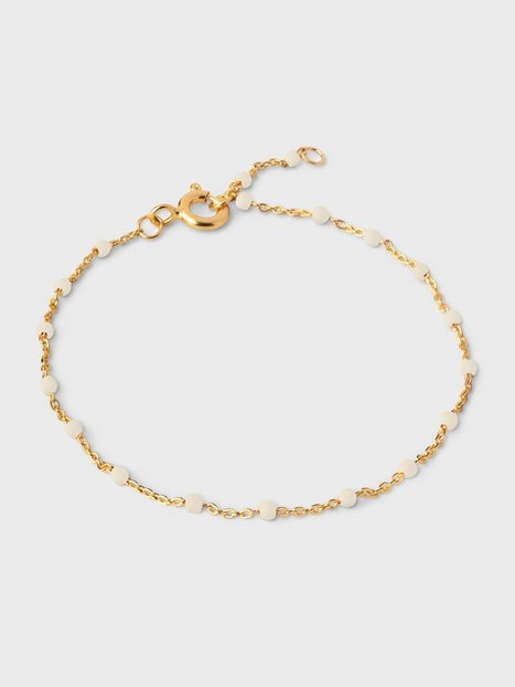 ENAMEL Copenhagen Lola Bracelet Armbånd Guld/Hvid