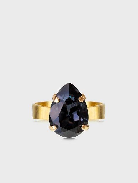Caroline Svedbom Mini Drop Ring Gold Ringe Graphite