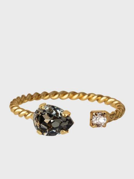 Caroline Svedbom Nani Ring Gold Ringe Black Diamond