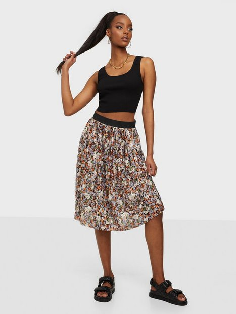 Jacqueline de Yong Jdyboa Aop Skirt Jrs Midi nederdele Black Purple Flower