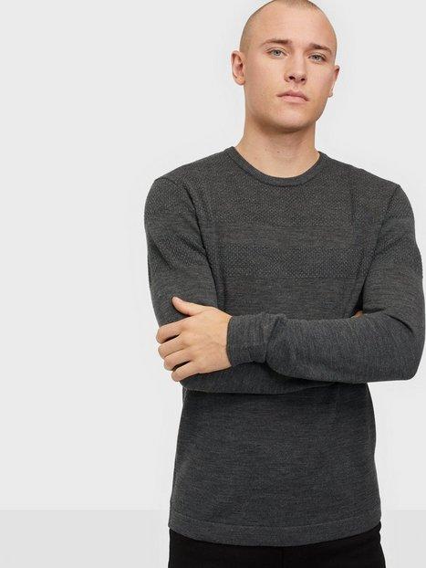 Tailored Originals TOSeverin Trøjer Dark Grey Melange