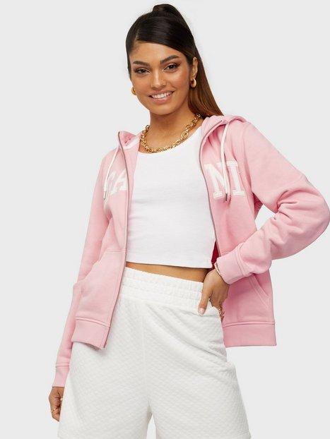 Gant Arch Logo Zip Hoodie Hoodies Pink