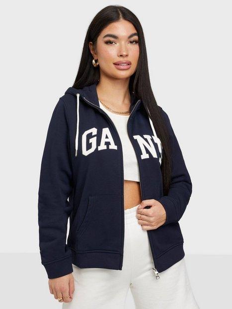 Gant Arch Logo Zip Hoodie Hoodies Blue