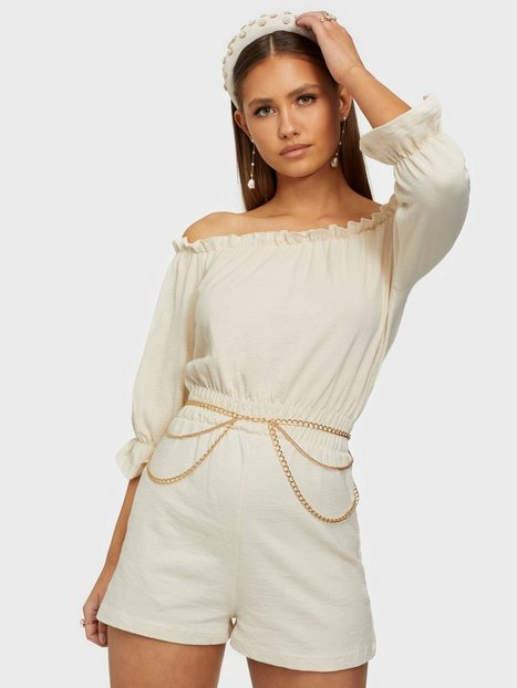 NLY Trend Off Shoulder Playsuit Playsuits