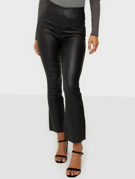 Object Collectors Item Objbelle Coated New Cropped Legging Casual bukser Black