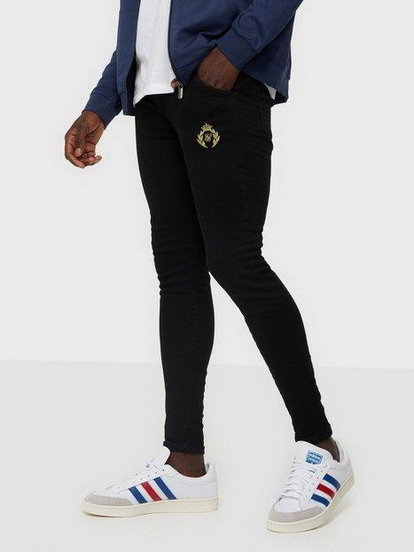 SikSilk Distressed Prestige Skinny Denims Jeans Black