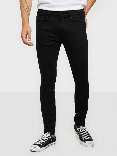 Only & Sons Onswarp Life Skinny Stay Black 7525 Jeans Sort