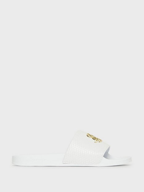 SikSilk Roma Lux Anaconda Slides Loafers slippers White - herre