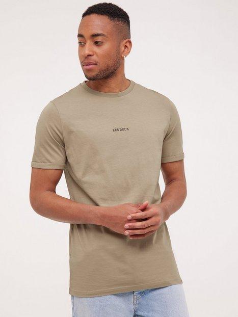 Les Deux Lens T-Shirt T-shirts & undertrøjer Dark Sand