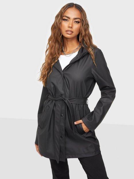 Jacqueline de Yong Jdyshelby Belt Raincoat Otw Noos Black