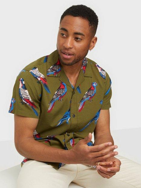 Selected Homme Slhregsiesta Shirt Ss Aop W Skjorter Dark Olive