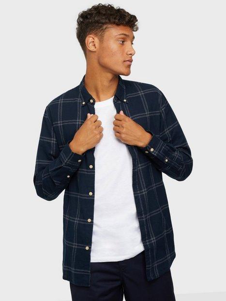 Selected Homme Slhslimflannel Shirt Ls W Noos Skjorter Mood Indigo Big Check