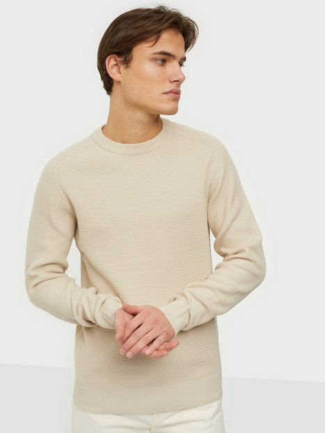 Selected Homme Slhcornelius Structure Crew Neck W Trøjer Egret Oatmeal