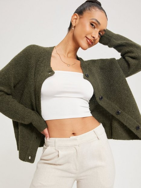 Selected Femme Slflulu Ls Knit Short Cardigan B No Cardigans Kalamata Melange