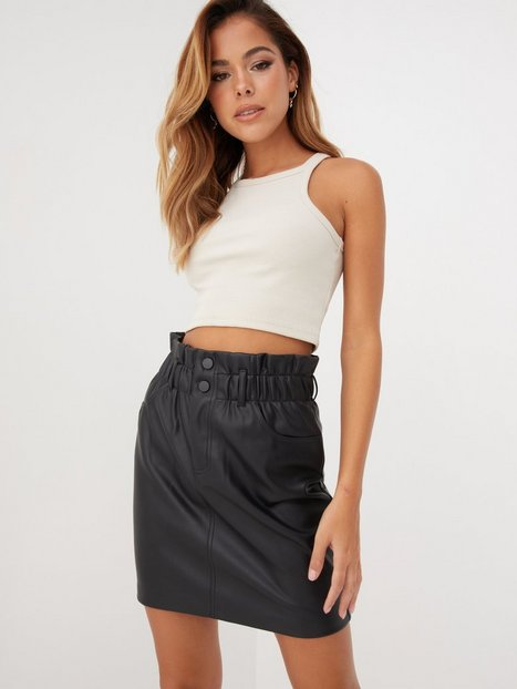 Only Onlmaiya-Miri Faux Leather Skirt Cc Mini nederdele