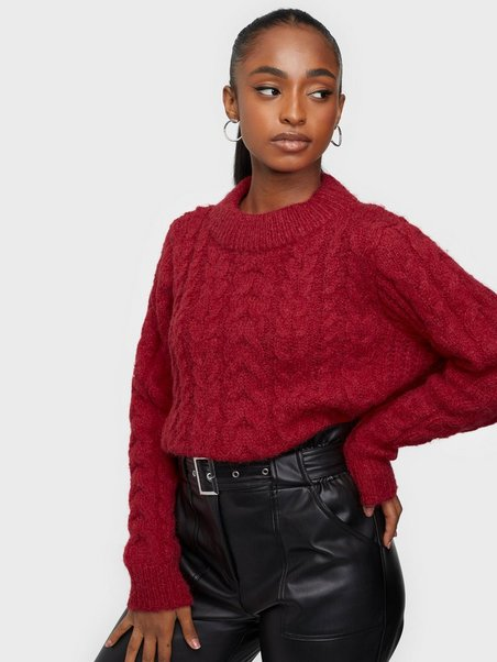 NMGRACE LS O NECK KNIT SP Haute Red