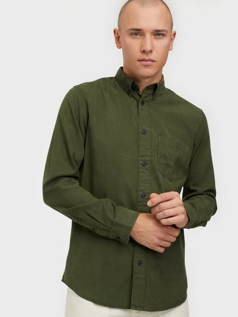 Selected Homme Slhregklay Shirt Ls W Skjorter Forest Night