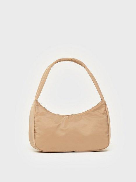 NLY Accessories Nylon Bag Skuldertasker Beige