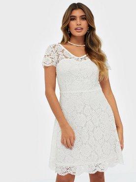 Köp Dry Lake DAPHNE DRESS White Lace