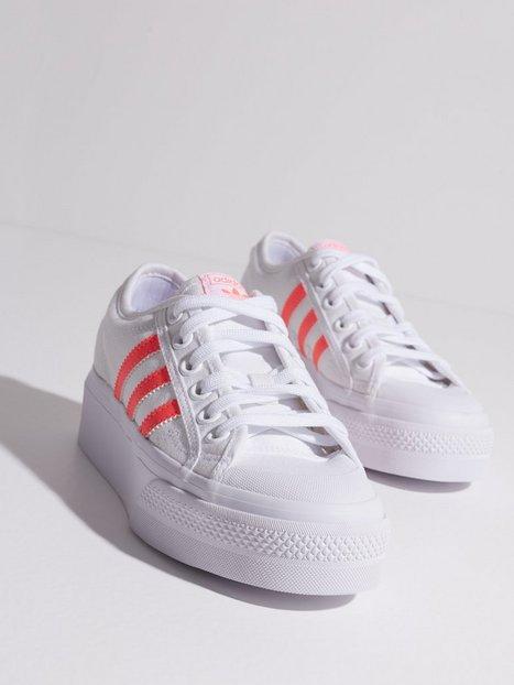 Adidas Originals Nizza Platform Low Top Vit/Rosa