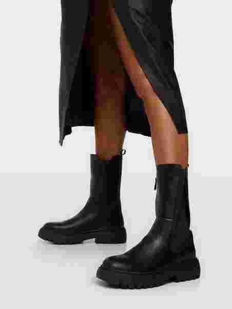 Köp Duffy High Chelsea Boots Svart | Boots