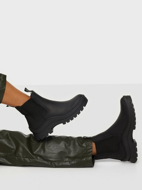 Johnny Bulls Low Elastic Warmlined Flat Boots Sort