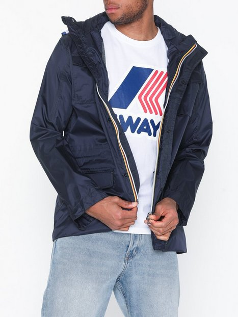 K-WAY Manfield Nylon Jersey Mid Jackor Blå