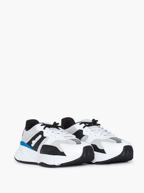 ELLESSE El Aurano Leather Runner Shoe Sneakers White Grey Black - herre