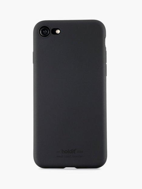 Holdit Silicone Case iPhone 7 8 Mobiltilbehør Sort - herre