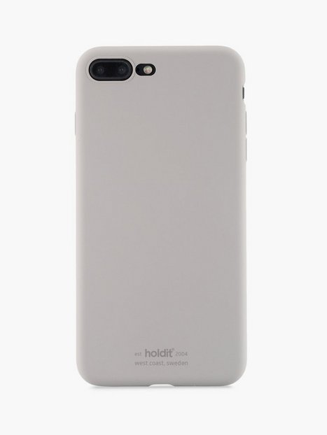 Holdit Silicone Case iPhone 7 8 Plus Mobiltilbehør Taupe - herre