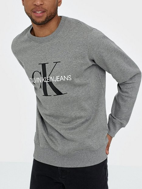 Calvin Klein Jeans Iconic Monogram Crewneck Tröjor Grå
