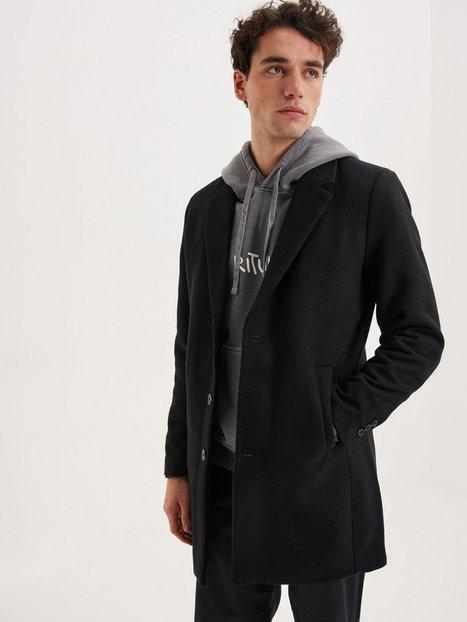 Jack & Jones Jjemoulder Wool Coat Sts Jakker & frakker Black