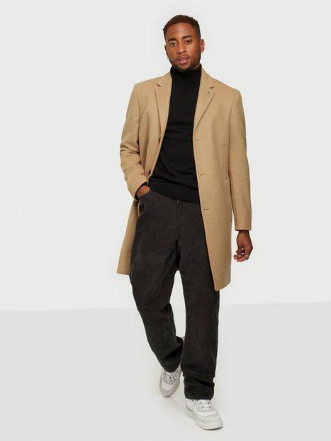 Calvin Klein Wool Cashmere Crombie Coat Jakker & frakker Beige