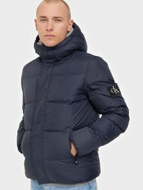 Calvin Klein Jeans Hooded Down Puffer Jacket Jakker & frakker Blue