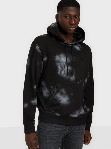 Calvin Klein Jeans Cloud Print Hoodie Trøjer Black
