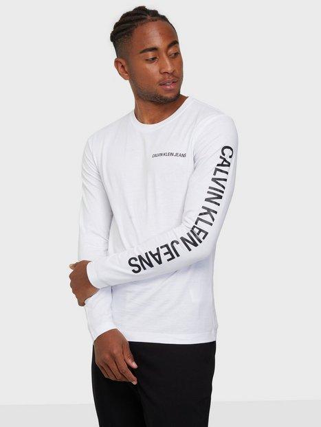Calvin Klein Jeans Essential Instit Ls Tee Trøjer White