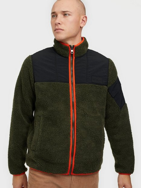 Calvin Klein Jeans Sherpa Zip Through Jakker & frakker Green